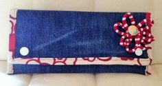 Portemonnaie aus Jeans und Bettwäsche / Purse made from jeans and bed linen / Upcycling