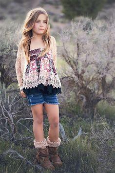 Jak & Peppar Clothing Laney Skirt/Swing Top in Blackberry Spring 2016 Desert Sky