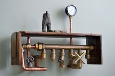 The artist creates incredible steampunk furniture made of real metal parts - - - http://everwoodstudio.com