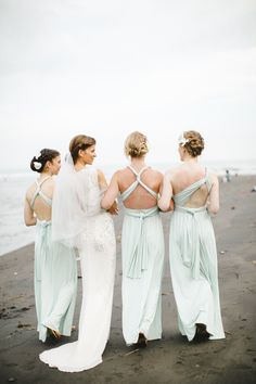Craving for something easy, breezy, and colorful? This wedding will be your needed remedy. Take a look inside at the couple's sweet romance combined with a traditional ceremony and cool-colored palette, all captured by Terralogical.  on http://www.bridestory.com/blog/a-charming-pastel-colored-beach-wedding-in-bali