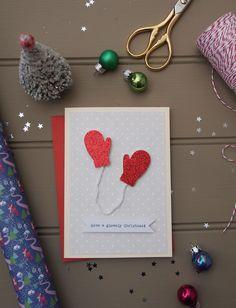 Have a Glovely Christmas Card DIY!