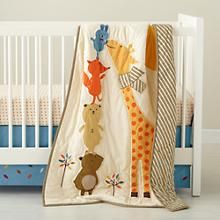 Crib Quilts: Forest Animal Crib Quilt in Baby Quilts & Blankets | The Land of Nod