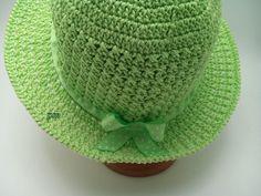 22 Trendy crochet hat with brim green Crochet Hat With Brim, Crochet Baby Hats, Crochet Hooks, Crochet Christmas Cozy, Christmas Crochet Patterns, Crochet Bikini Bottoms, Cotton Hat, Wide-brim Hat, Summer Hats