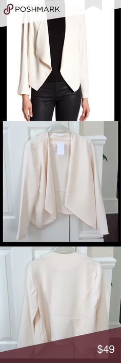 Lush NWT Ivory Waterfall Blazer, XS Gorgeous ivory waterfall blazer from Lush.  Size XS.  Blazer is NWT.  Open front, drape collar.  Popular sold out style! Lush Jackets & Coats Blazers