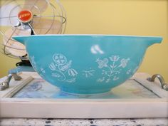 Pyrex Collective II: Turquoise Embroidery!