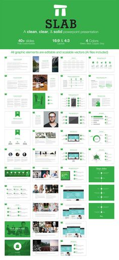 Slab – A clean, clear, & solid powerpoint template (PowerPoint Templates)
