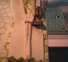 sewing invisible zipper w/ regular zipper foot tutorial :)