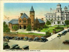 Cositt Library and Custom House, Memphis, Tennessee :: Sjoerd Koopman Library Postcard Collection