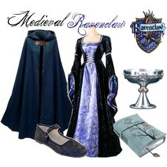 Whenever I get the chance, I need this dress to look like the Rowena Ravenclaw for Halloween some day :)