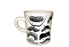 S/2 Moustache Mugs on OneKingsLane.com