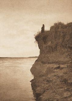 On the Banks of the Missouri [Mandan] (The North American Indian, v. V. Cambridge, MA: The University Press, 1909)