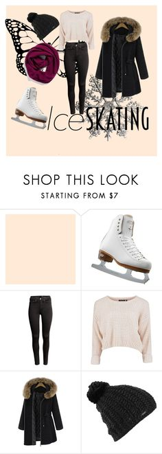 """Ice skating"" by fashionspecialclothes on Polyvore featuring Riedell, H&M, Burton and Halogen"