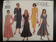 Vogue Basic Design 1149 Misses Fitted and by Noahslady4Patterns