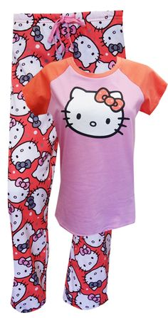 Hello Kitty Polka Dot Fun Pajamas Fresh and fabulous! This color scheme is the hottest this season has to offer. The pink and c...
