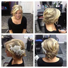 low messy  bridal wedding hair updo