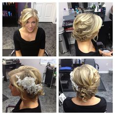 low messy  bridal wedding hair updo