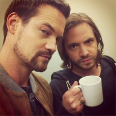 Lyndsy Fonesca posted this picture on Twitter & Instagram of co-stars Shane West & Aaron Stanford
