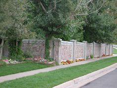 concrete privacy wall | Concrete Fence Wall Photos:
