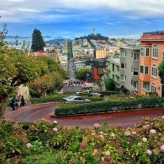 Take in the breath-taking view at the top of Lombard Street  With the views of downtown bay area and the Coit Tower right in the middle and (expensive-looking) gorgeous houses lined up on the sides Lombard Street is one good-looking Instagram-worthy spot. Lombard Street is one of the most crooked streets in the world and if climbing uphill to the top of the street is proving to be too tough for you we suggest you take the Powell-Hyde cable car or MUNI bus which stop right where you need to…