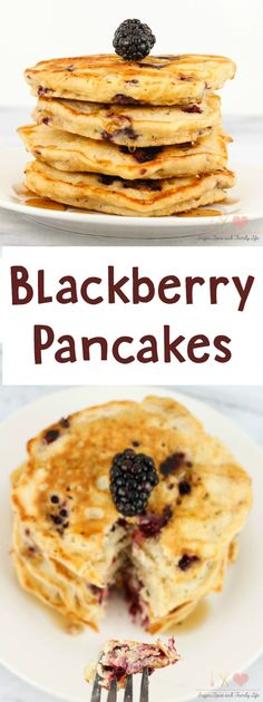 Blackberry Pancakes is a delicious breakfast that the whole family will enjoy. - Blackberry Pancakes Recipe from Sugar, Spice and Family Life
