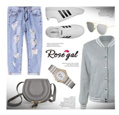 """ROSEGAL.com"" by monmondefou ❤ liked on Polyvore featuring adidas and OMEGA"