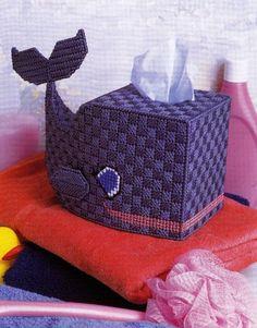 Cute Whale Tissue Box