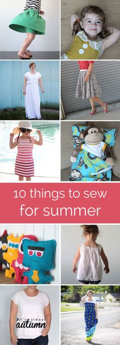 10 easy summer sewing projects.