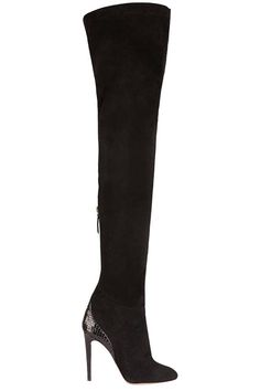 Aquazzura x Olivia Palermo | Thigh-High Boots  See Olivia Palermo's Shoe Collection - Harper's BAZAAR