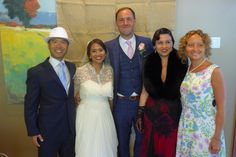 """On Friday, Abby, our awesome Production Manager, was the beautiful bride in her lovely 1930's-themed wedding. We were so excited to meet her extended family, hear them perform, and of course, to eat delicious Filipino food! Please join us in saying """"Congratulations Abby & Rich!"""""""