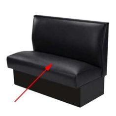 "All About Furniture BV-SEAT Black 46"" Upholstered Booth Seat - All About Furniture - BV-SEAT $86"
