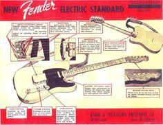 Fender Esquire guitar ad, ca. 1950