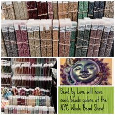 Bead My Love has gorgeous seed beads & finished seed bead work at the #NYC #WholeBeadShow. Come & see!