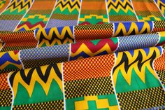 Kente Print Fabric - Ankara African Print - African Fabric for sewing - Wax Print Fabric - Kente African Print - Fabric per yard by EtamStudio on Etsy Ankara Fabric, African Fabric, Unique Outfits, Crafts To Make, Printing On Fabric, Wax, Traditional, Sewing, How To Make