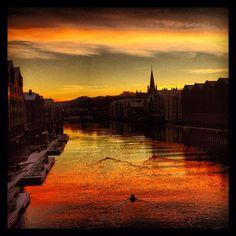 Sunset in Trondheim -Instagram photo by @prinsesse_ragnhild #travel #norway