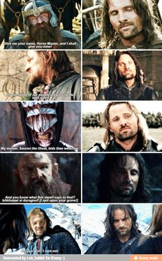 The amount of done Aragorn is exhibiting is 10000%