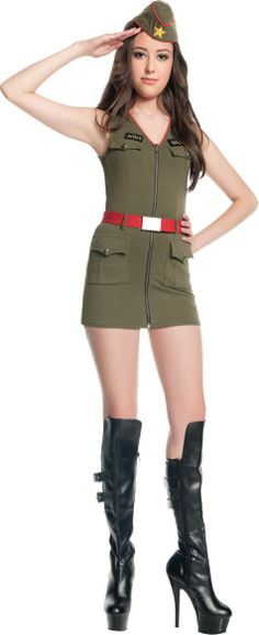 Teen Girls Major Trouble Army Costume - Party City