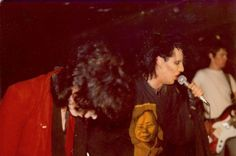 Peter Lloyd, on the right in white shirt, with Pete Burns (centre) and Mick Reid (left) at a Nightmares in Wax gig at Eric's in 1980 (Photo: Michael Reid) Pete Burns, New Wave Music, Pop Bands, Memoirs, Liverpool, Waves, Punk, Singer, Centre