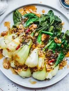 Dieser dampf Pak Choi mit Knoblauch-Ingwer-Sauce · Eat this! Quick Easy Meals, Healthy Dinner Recipes, Breakfast Recipes, Vegetarian Recipes, Breakfast Ideas, Easy Recipes, Vegetable Recipes, Ginger Sauce, Eat This