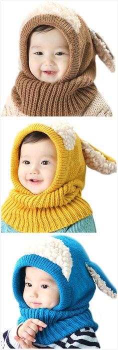 Cute Cartoon Sheep Decoration Shawl Hat For Children Loom Knitting, Baby Knitting Patterns, Knit Or Crochet, Crochet Baby, Kids Winter Hats, Cute Cartoon, Sheep Cartoon, Cute Sheep, Knitted Hats