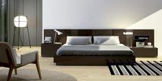 Colección PILEF. Dormitorio Acabado nogal / Acabado crudo mate