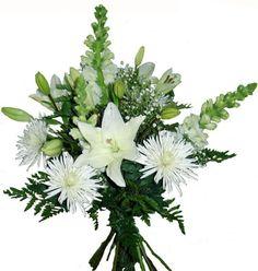 Ramo de flores de color blanco