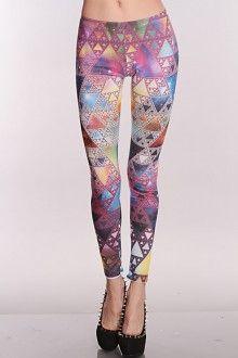 Lilac Multi Printed Leggings