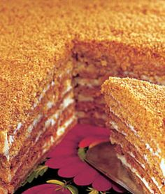 Medovník (Honey Cake)    A taste of Prague!   I will have to try to make this!