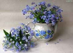 pomnenky (forget-me-not) pieces) Beautiful Flower Arrangements, Most Beautiful Flowers, Floral Arrangements, Flower Vases, Flower Art, Forget Me Not Blue, Flora Flowers, Bouquet, Lily Of The Valley