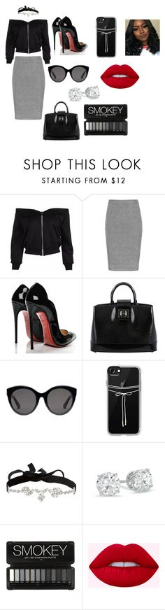 """""""Sugar Baby"""" by ivickyann ❤ liked on Polyvore featuring Christian Louboutin, Louis Vuitton, Gucci, Casetify and AURA Headpieces"""