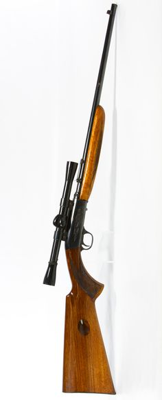 Lot 357: Browing Belgium .22 LR Semi-Automatic Rifle; Stock tube fed semi-automatic rifle with scope