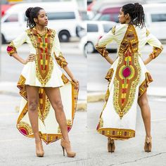 Fashion Womens Dress African Print Casual Loose Irregular Cocktail Party Dresses