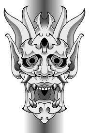Japanese Hannya Mask, Japanese Demon Tattoo, Japanese Demon Mask, Japanese Sleeve Tattoos, Oni Samurai, Koi Tattoo Sleeve, Samurai Mask Tattoo, Japanese Artwork, Japanese Tattoo Designs
