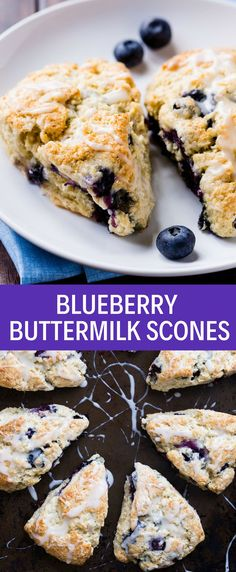 The best buttermilk scones with blueberries! These are the best scones you'll ever have and they are certain to change your mind about scones! Too often scones are dry and bland, but not this recipe. They are easy to make using just one bowl and a whisk. Buttermilk Scone Recipe, Buttermilk Dessert Recipes, Sweet Scones Recipe, Best Scone Recipe, Scone Recipes, Buttermilk Biscuits, Breakfast Scones, Blueberry Buttermilk Breakfast Cake, Blueberry Bread