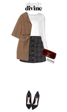 """""""Holiday Sparkle with TheRealReal ft Romwe"""" by pianogirlzoe ❤ liked on Polyvore featuring Majestic Filatures, STELLA McCARTNEY, Christian Dior and Louis Vuitton"""